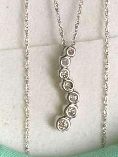 Real Diamond Necklace In 10k WhiteGold