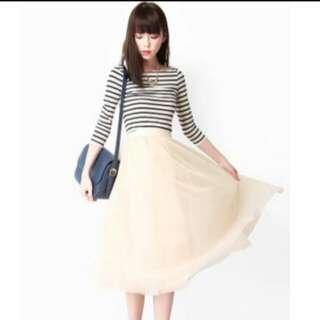 🚚 Aforarcade AFA Cloud Nine Midi Skirt In Cream Size S BNIB