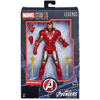 現貨全新 10周年 Marvel Legends Studios Ironman Mark 7 鋼鐵俠10th Anniversary 6 inch Action Figure