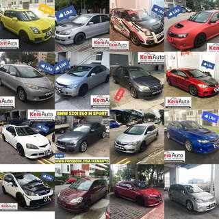 Mod sporty Car Weekday Rental (Honda integra civic FD2 swift sport lancer CS3 Colt R Lancer EX GT Toyota previa picnic Subaru Impreza SGT Colt R turbo)