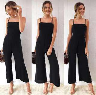 NEW! Classy Black Long Jumpsuit