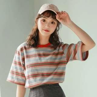 Basic Striped Tee Shirt