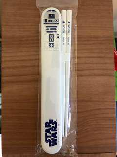 Star Wars R2-D2 chopsticks with case