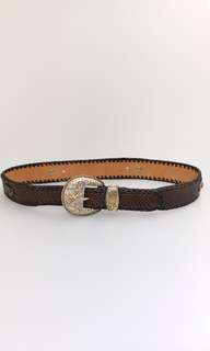 Snake Skin Western Style Cowboy Leather Belt