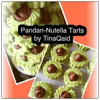 Pandan Nutella Tarts