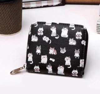 🚚 Short Wallet - cats BLACK