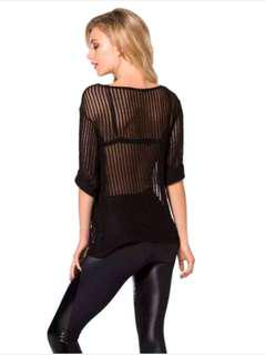 Black Milk Cavalier sheer jumper