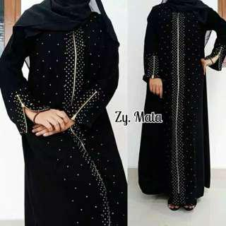 Abaya Zipper Mata