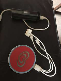 Power Bank - 2 available. Red is 3000mAh.  Black is