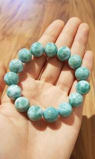 NEW Natural Larimar Crystal stone Bracelet 13mm