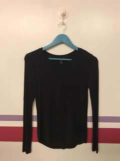 Stretch-Knit Long Sleeve Top
