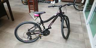 "21-gears 24"" wheels mountain bike pink (brand Marlin)"