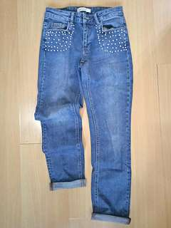 Promod Beaded Jeans (Size: S)