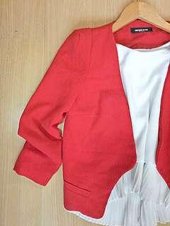 Red Blazer (Size: XS - S)