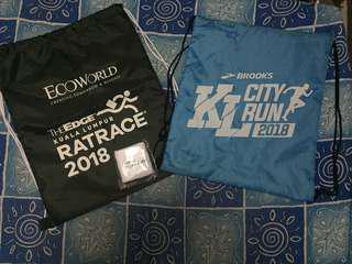 The Edge KL Rat Race 2018 & Brooks KL City Run 2018 (Sack Bag & Wristband)