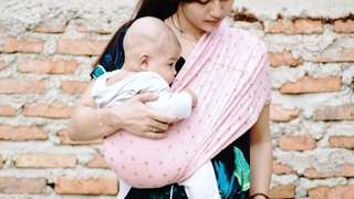 MyBabyPouch Carrier - Pink Love ($40)