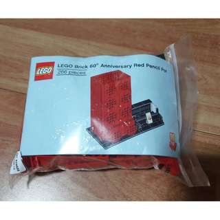 Lego 60th Anniversay Red Pencil Pot