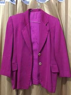 Shocking pink blazer by samuel