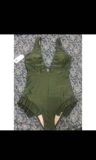 One piece swimsuit - army green / olive green
