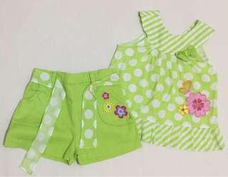 (Baby) Green polka ensemble