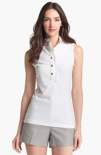 TORY BURCH LIDIA SLEEVELESS POLO SHIRT