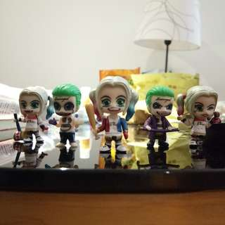 Joker and Harley Quinn mini figures