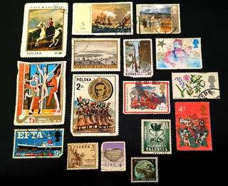 Stamps Collection from various countries