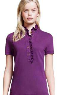 TORY BURCH LIDIA RUFFLED POLO