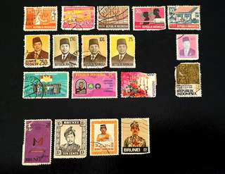 Stamps (Indonesia n Brunei)