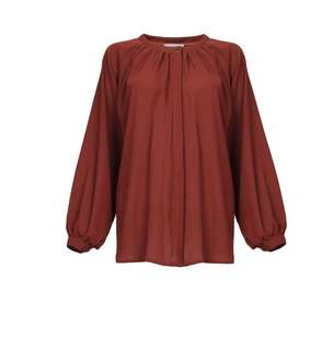 Poplook Curve Maquilla Front Button Flares Blouse