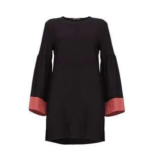 Poplook Curve Valorie Colourblock Bell Sleeve Tunic
