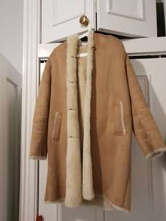 UNIQLO shearling coat camel colour from Japan