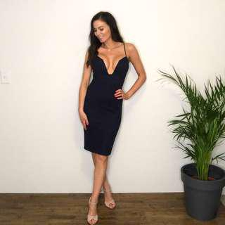 Fitted Navy Dress // Size 8
