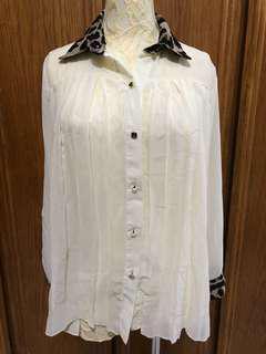 🚚 豹紋 雪紡 襯衫