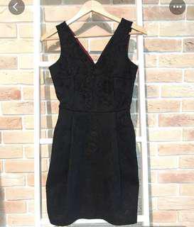 Armani Exchange AX Black Lace Dress