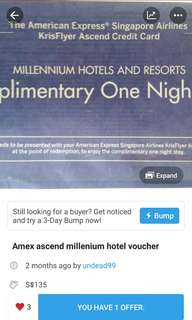 Cheapest Millenium Hotel Stay w amex