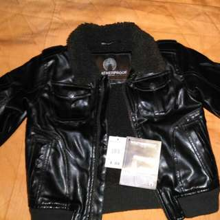 LEATHER Jacket Weatherproof With TAG