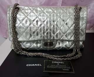 b86cadca7f88 Chanel Silver Metallic 2.55 Reissue Flap Bag - Limited Edition