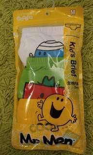 Mr. Men & Little Miss 兒童內褲 3條底褲 合6-8歲 P1-P3 小學生 Mr Men Kid's Underpants Children Brief