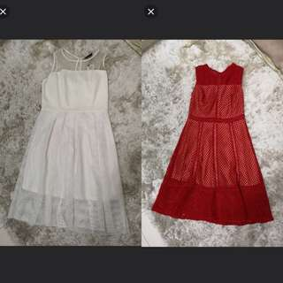 Red (Sold) and White Midi Dress #AugPayDay