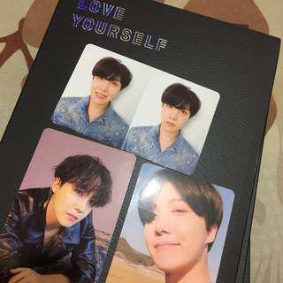 [WTT] BTS Love Yourself: Tear JHope Photocards (Y, O, R)