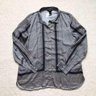 H&M Printed Silky Shirt