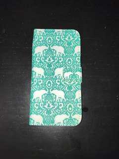 Elephant pattern Iphone 4 wallet case