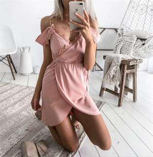 Elegant V-neck Party Dress