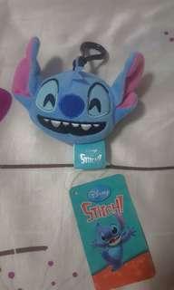 Disney Stitch Happy Emoji plush keychain