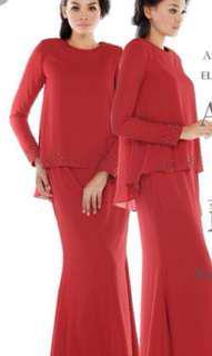 Altelia Amani Anna (Modern baju) kurung in Red