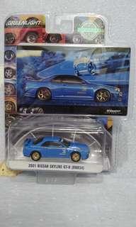 Greenlight Skyline Nissan R34 GTR not tarmac hotwheels tiny tomica tomytec