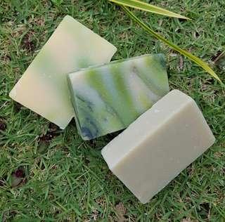 🚚 BN HOMEMADE SOAP BARS CUCUMBER MELON/BAMBOO LILY/WINTER FRESH
