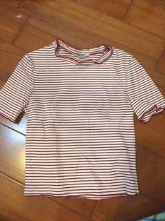 Zara條紋上衣