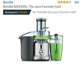 Breville cold press juicer